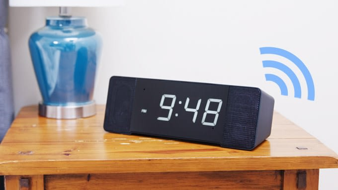 Sandman Doppler The Worlds Best Alarm Clock Indiegogo - Clever magnetic wall clock charges phone wirelessly