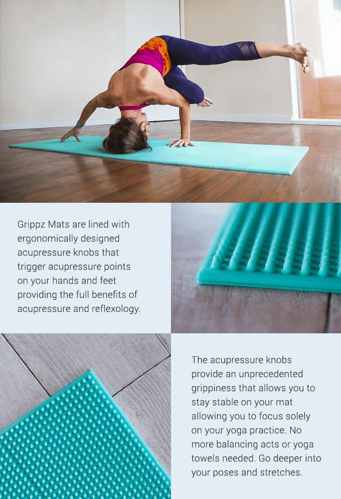 Grippz Mats World S First Acupressure Yoga Mat Indiegogo
