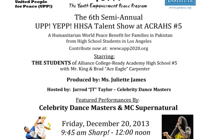 The 6th UPP! YEPP! HHSA Talent Show World Peace Campaign