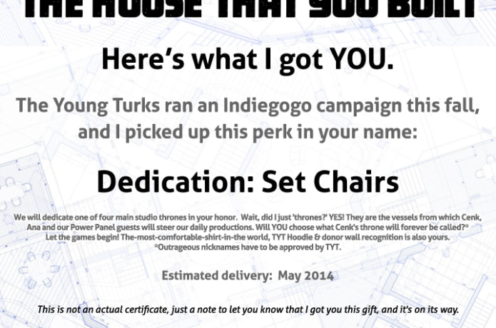 TYT - Let's Build It Together! The Young Turks | Indiegogo