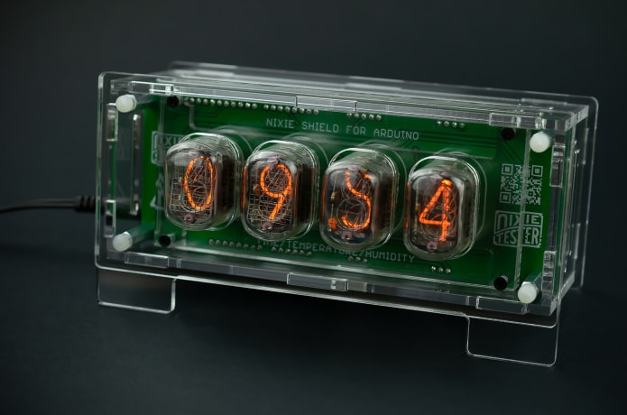 Nixie Clock Thermometer Hygrometer Arduino Shield   Indiegogo