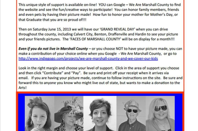 We are Marshall County   and we cover our kids! | Indiegogo