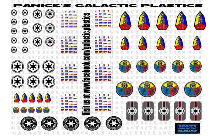 Decals Waterslide Decals Various Sizes Action Man Round Logos Clear Backing