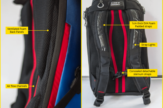 bd24f97a4 Aster - World's safest cycling backpack | Indiegogo