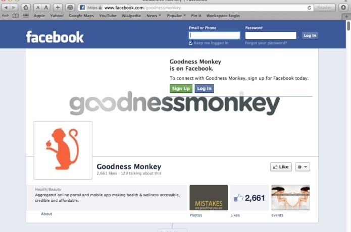 GoodnessMonkey, Total Health & Wellness Web Portal and