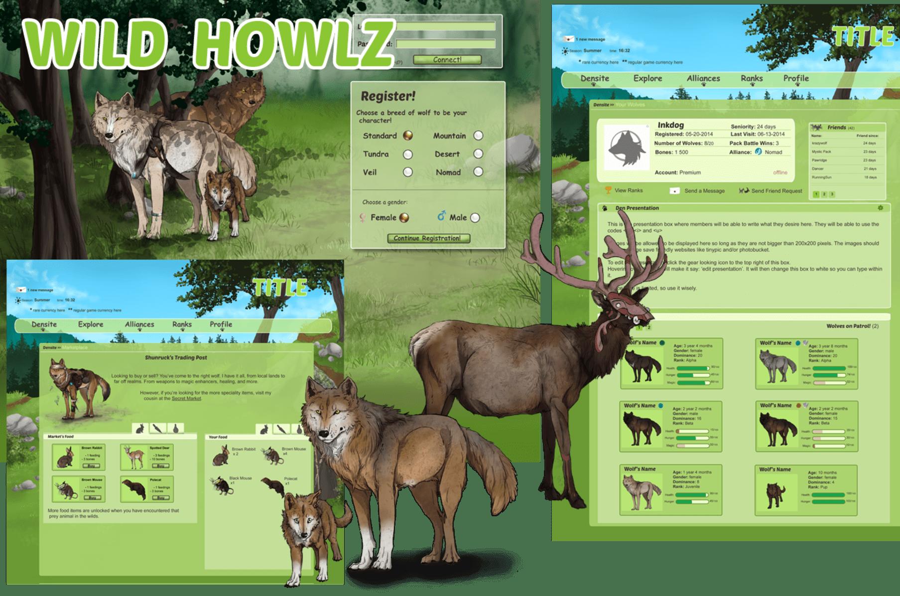 Wild Howlz- online wolf game | Indiegogo