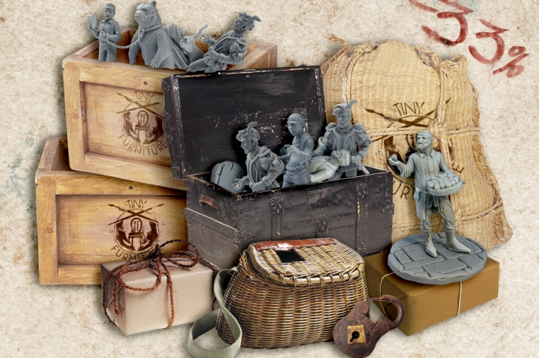 Tiny Market Square - 28mm medieval citizens  | Indiegogo